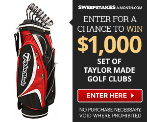 Enter for a chance to win gold clubs