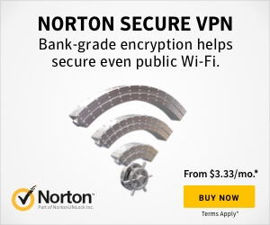 Norton Secure VPN banner advertisement