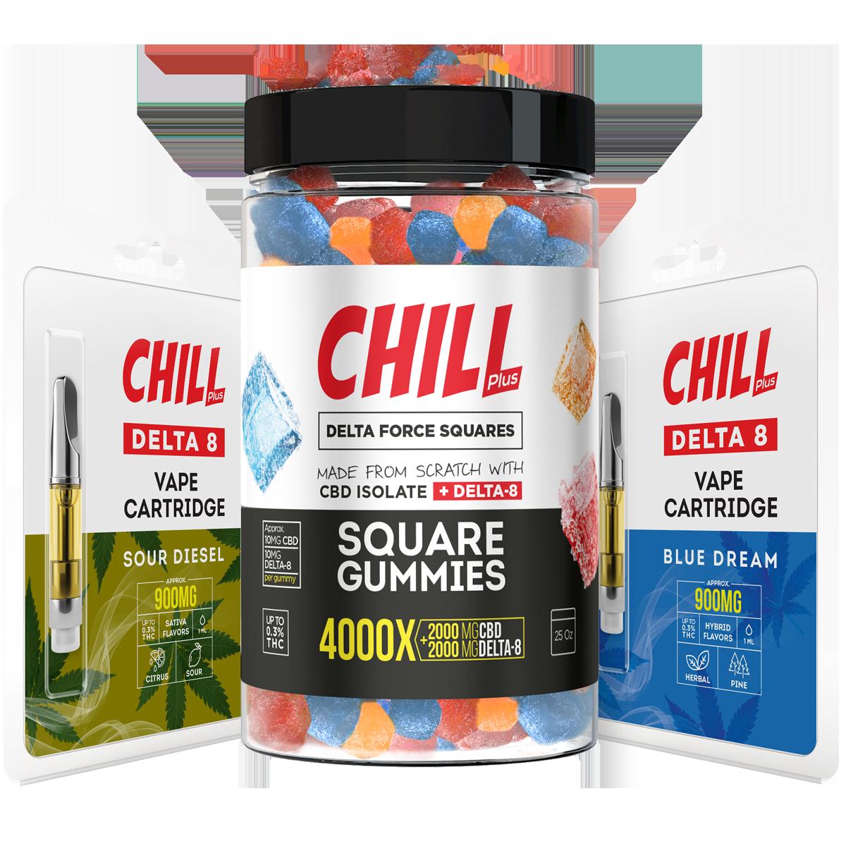 Chill Delta8 THC CBD Vape Edibles